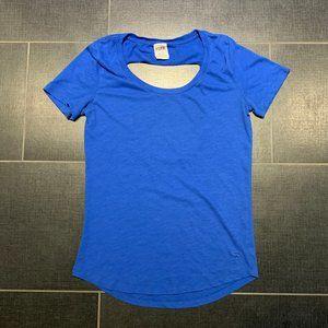 VS PINK Cobalt Blue Cut Out Back T-Shirt